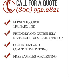 Call for a Quote (800) 952.2821